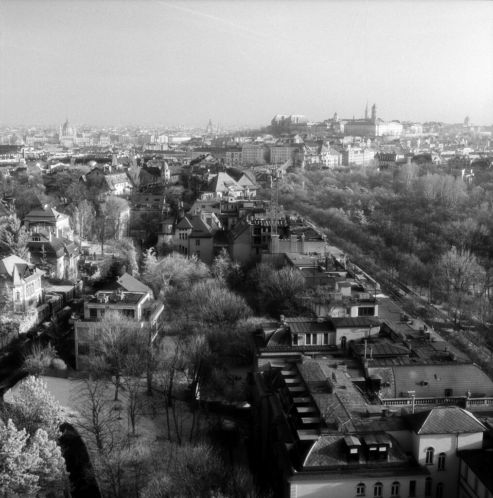 Wintery Budapest Skyline