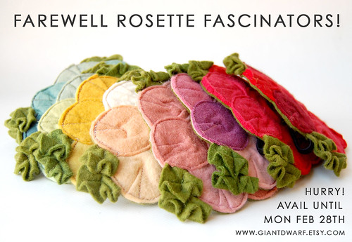 Rosette Fascinator // Design Retirement