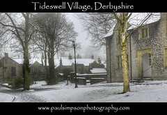 Tideswell Village (Paul Simpson Photography) Tags: uk trees houses homes winter england snow rural derbyshire peakdistrict tideswell coldweather winterweather villagelife englishvillage dickensian paulsimpsonphotography