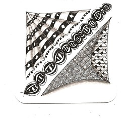 in the shade (theHyperMonkey) Tags: art bristol tile drawing doodle zentangle