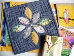 Arrived ... (monaw2008) Tags: quilt handmade swap patchwork applique mugrug