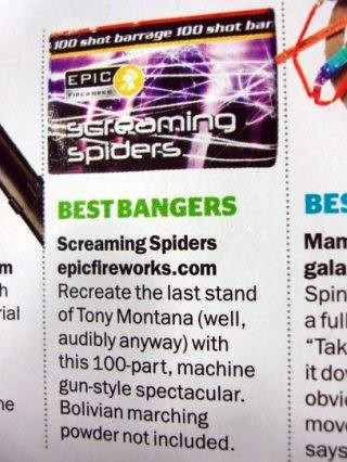Screaming Spiders by Epic Fireworks
