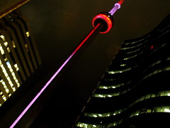 night lighting (dmixo6) Tags: urban toronto canada colour tower architecture night cn angles darl dugg dmixo6