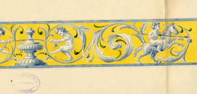 Dibujos de Sebastián Aguado para el proyecto de ejecución de los urinarios subterráneos de Zocodover construidos en 1926. Ayuntamiento de Toledo, Archivo Municipal