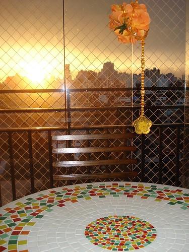 Mesa de Mosaico na Casa de uma Cliente