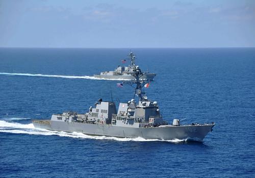 US ships in South China Sea.