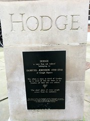 Photo of Samuel Johnson and Hodge black plaque