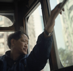 Hong Kong 2011 (BckWht) Tags: rolleiflex hongkong tram 香港 35e kodak160vc xenotar 電車上