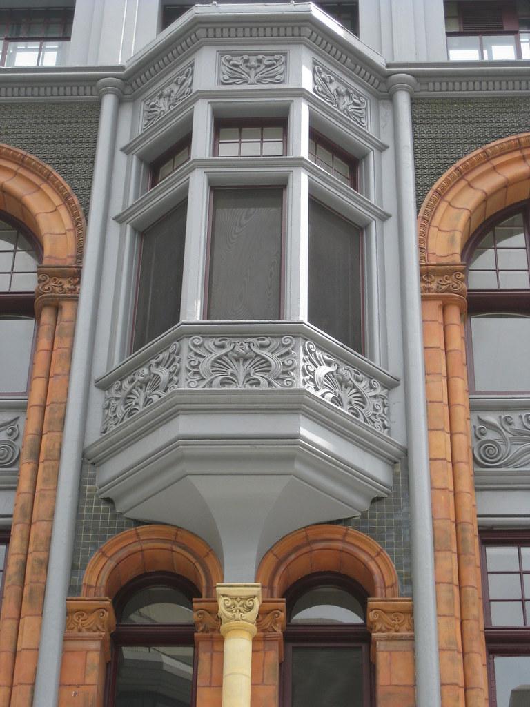 Bay Window of the Friendly Societies House - Elizabeth Street, Melbourne