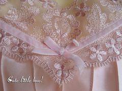 bow (etsydreamdate) Tags: satin nightgown nightdress nightie pinksatin nachtkleid