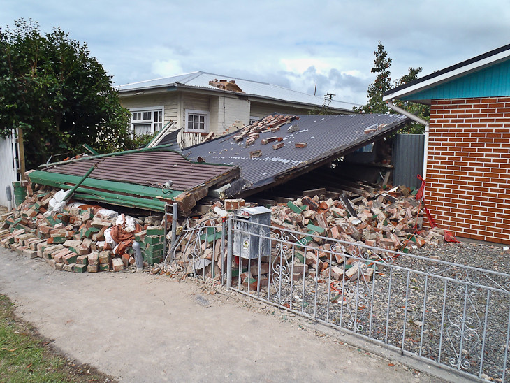building destroyed by the christchurch earthquake
