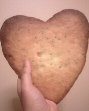 Baked My First Giant Heart-Shaped Sugar Cookie!