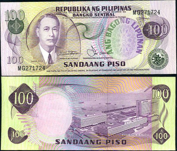 100 Piso Filipíny 1974-78, P164