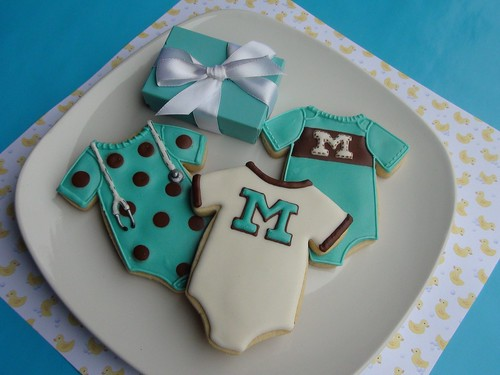 Tiffany Blue Onsie favors