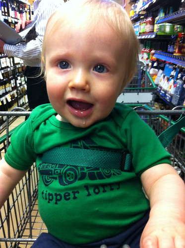 Liam at the grocery store