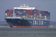 CMA CGM ALASKA (John Ambler) Tags: sea water sign alaska call ship ngc vessel container solent southampton thorn cgm channel imo cma mmsi cmacgmalaska a8xp9 9469572 636092147