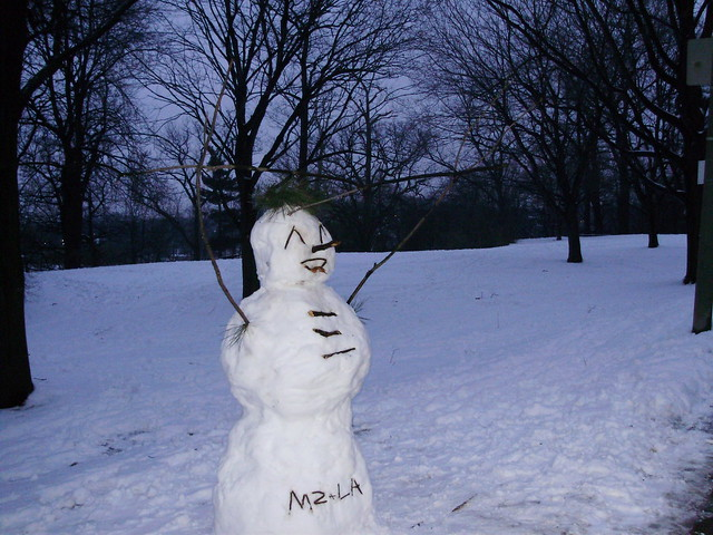 Happy High Park Snowman, Toronto