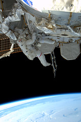 Steve Bowen and Al Drew working outside the ISS (astro_paolo) Tags: nasa discovery iss esa 133 spacewalk internationalspacestation europeanspaceagency stevebowen expedition26 sts133 alvindrew
