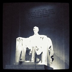 Inside the Lincoln Memorial in Washington, DC. by ObieVIP