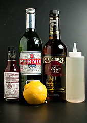 Ingredients for Sazarec Cocktail