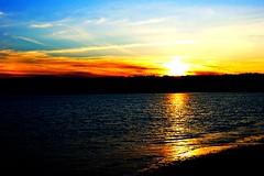Sunset. (wmac1120) Tags: life camera blue light red cloud sun color water beautiful yellow photo amazing focus pretty massachusetts sony mass alpha edit
