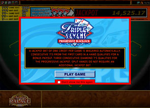 Triple Sevens Progressive Blackjack Rules