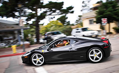 Ferrari 458 (GHG Photography) Tags: auto california italy motion black car speed photography italian aluminum fast automotive olympus ferrari carmel panning nero supercar fastest v8 458 midengined hypercar e520 ghgphotography