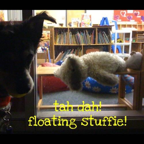 Tah dah! Floating stuffie!
