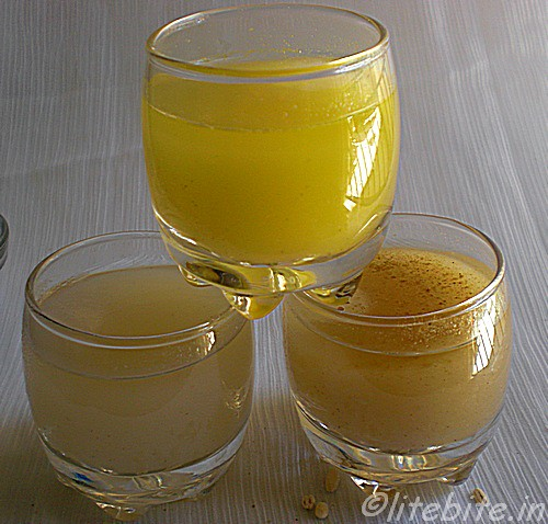barley water and 3 recipes