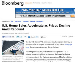 U.S. Home Sales Accelerate - from Bloomberg