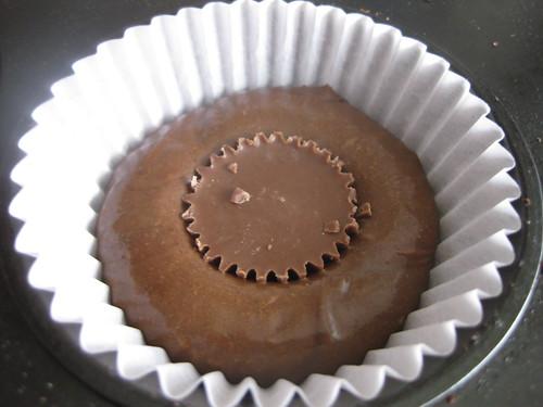 Chocolate peanut butter cupcake pre-bake