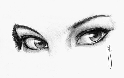 eyes pencil drawing/dibujo a lápiz ojo