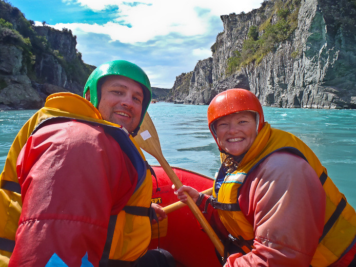 in the boat white water rafting new zealand
