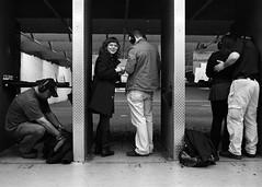 Girls with guns (Riverman___) Tags: blackandwhite film coffee gun kodak five trix saturday guys fries 400 hamburger pistol target bullet soda range 9mm nikonf6 nikkor35mmafd