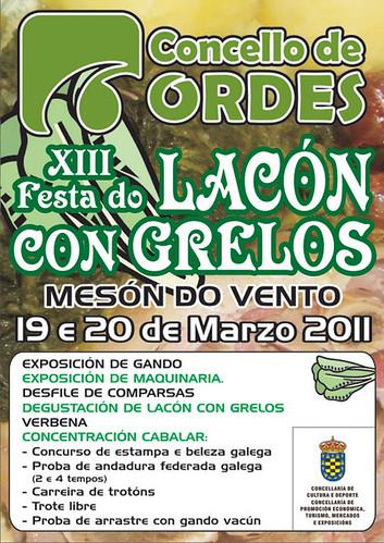 Ordes 2011 - Festa do lacón con grelos de Mesón do Vento - cartel