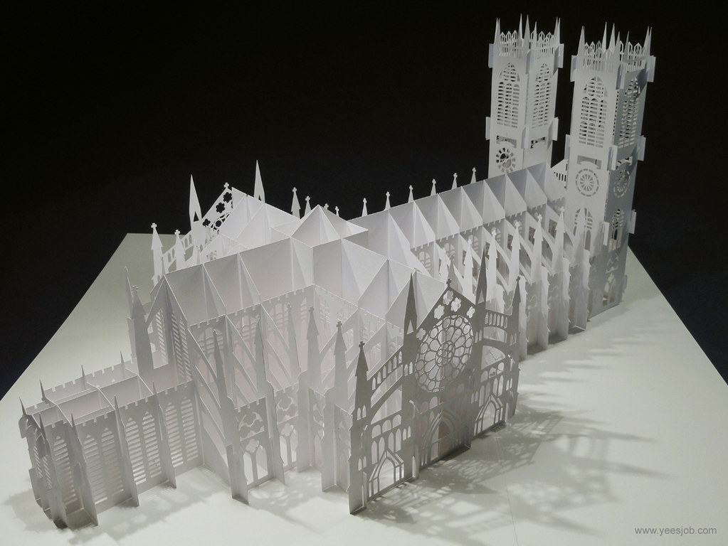 Westminster Abbey Yees Job Tags Building Westminsterabbey Up Architecture Toy Origami Pop Kirigami
