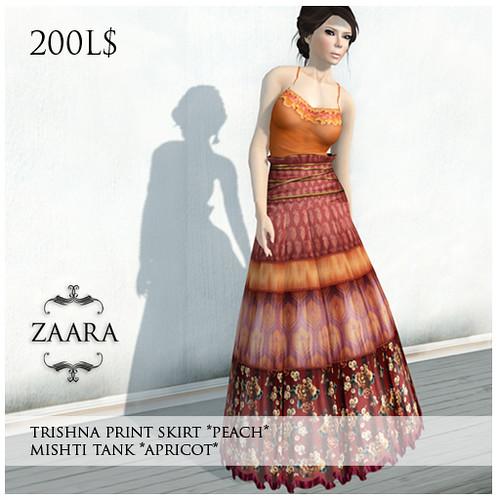 Zaara : Trishna print skirt and mishti tank outfit (RFL)