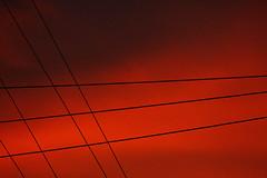 Santa Fe Sunrise 1 (Dr DAD (Daniel A D'Auria MD)) Tags: light color sunrise photography wires gesture telephonewires