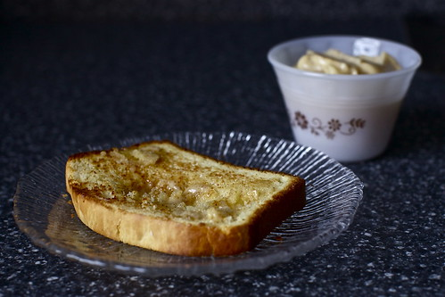 toasted, honey buttered, lunn bread