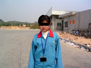 Child worker at New Balance