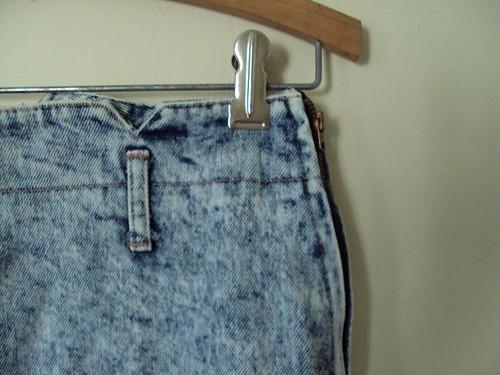 Bongo Stonewash Denim Skirt (detail)