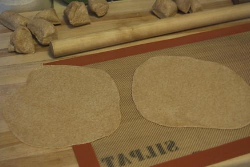 rollingout tortillas