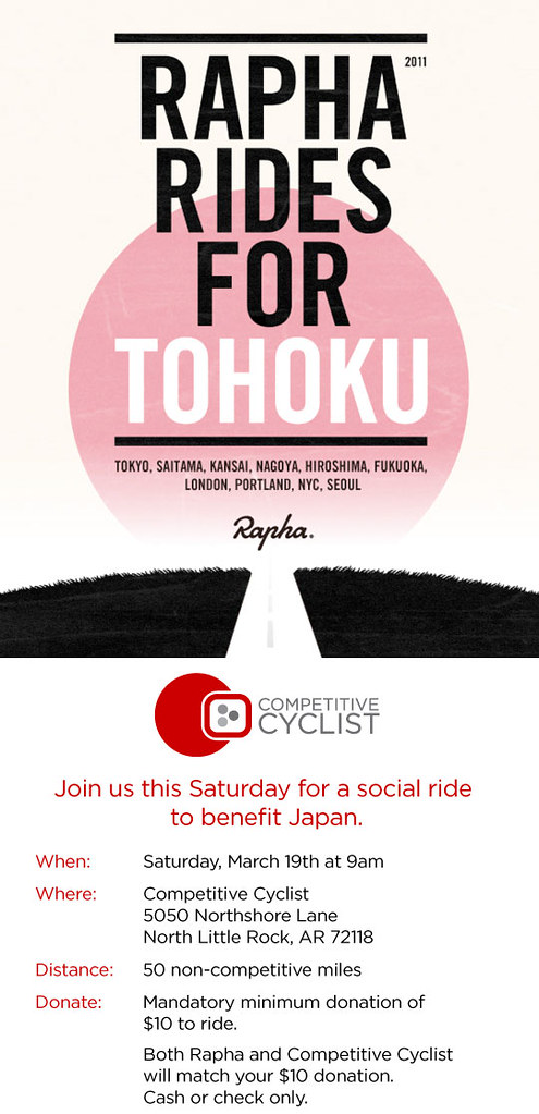 Rapha & Competitive Cyclist ride for Japan