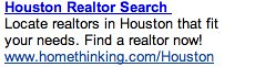 PPC Ad #1 - Realtor Search