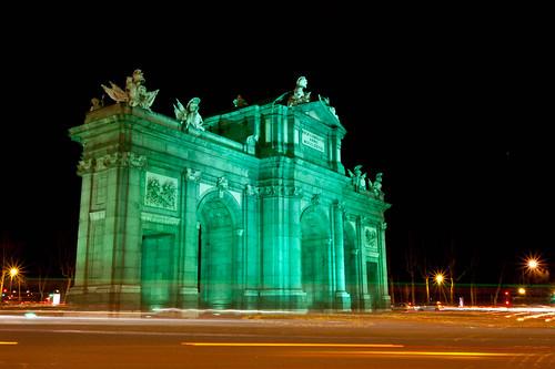 La Puerta de Alcalá el día de San Patricio