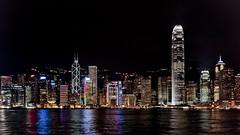 Victoria Harbour at night, Hong Kong