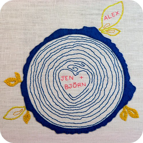 Family Tree Embroidery