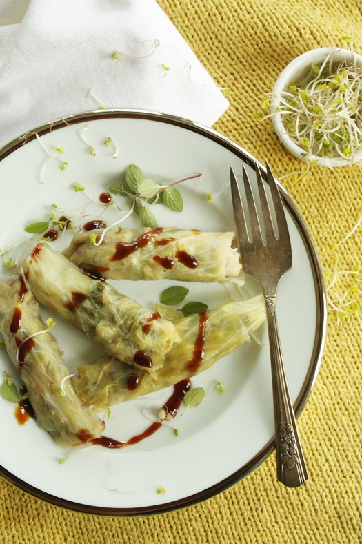 stuffed Cabbage with Pomegranate Syrup