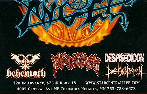 04/15/06 Morbid Angel/Behemoth/Krisiun/Despised Icon/Demonicon @ Columbia Heights, MN (Bottom)