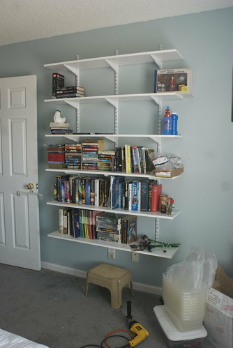 house shelving organization